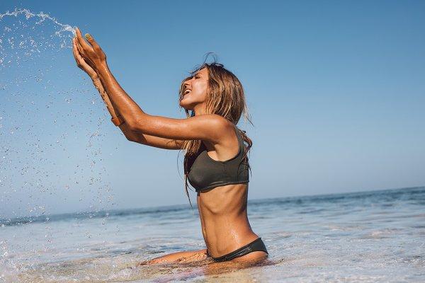 Young woman enjoying vacation
