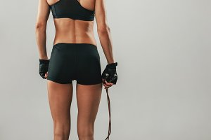Fit healthy young athlete