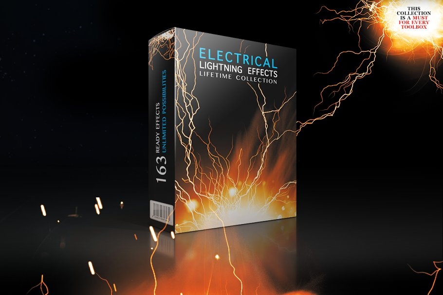 Electrical Lightning Effects Collect ~ Graphic Objects ~ Creative Market