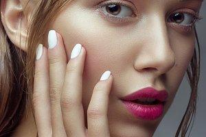 Girl with  creative natural Makeup