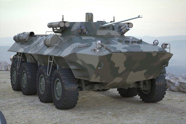 3D Vehicles: 3D Models by Obshansky - Armoured Transporter BTR 90