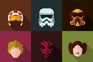 StarWars Masks Flat (Set 29)