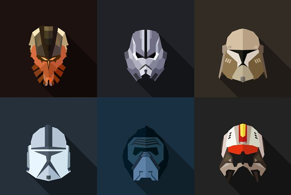 StarWars Masks Flat (Set 30)