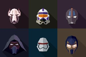 StarWars Masks Flat (Set 32)