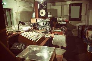 Vintage radio studio
