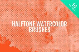 Halftone Watercolor Brushes