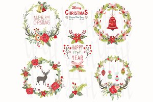 Christmas Wreath Elements