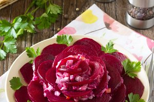 decorated salad of beets