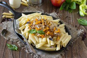 Pasta with minced meat