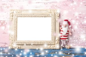 Christmas blank photo frame