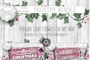 Christmas Stencil BUNDLE SVG