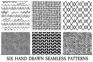 Handrawn Seamless Pattern Overlays