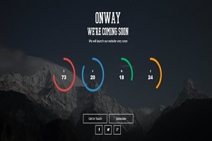 Onway | Coming Soon HTML Template