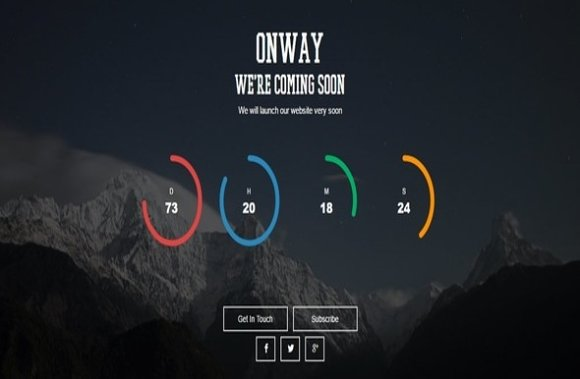Onway Coming Soon Html Template Presentation Templates