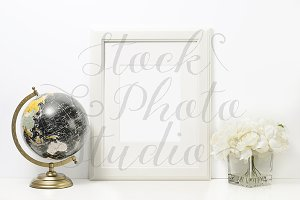 White Frame Styled Stock Photo #F108
