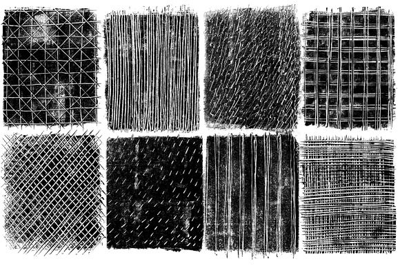 Monoprint Textures, Clipart. Brushes in Textures - product preview 4