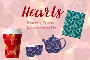 Hearts Repeating Pattern