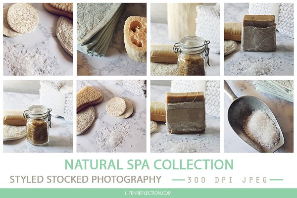 Natural Spa Styled Stock Photograph…