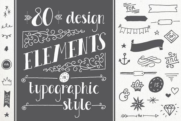 80 Typography Elements