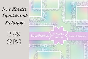 №209 Lace Frames Borders