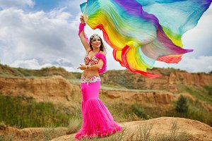 Girl dancing belly dance