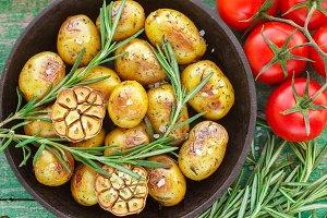Small baked potato