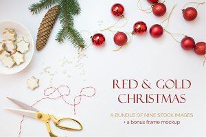 Red & Gold Christmas Images + Bonus