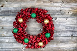 Christmas Wreath made of real leaves