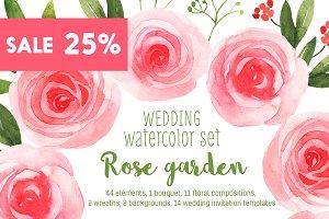 Wedding watercolor floral bundle