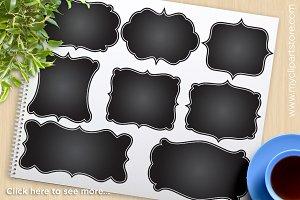 Black Chalkboard Frames