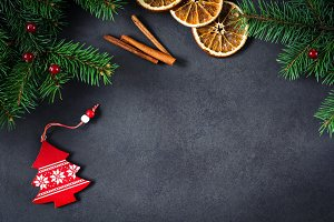 Christmas decorations, background