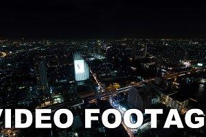 Timelapse of night Bangkok