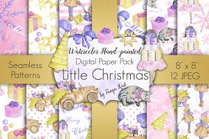 Little Christmas Digital Paper Pack