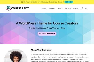 Course Lady WordPress Theme