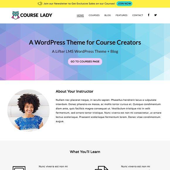 Course Lady WordPress Theme