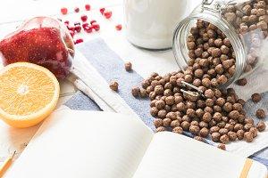 chocolate balls for breakfast