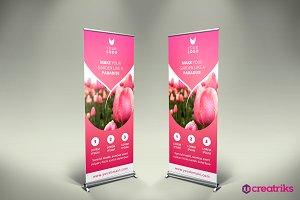 Flower Shop Roll Up Banner - v053