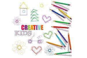 Creative artistic kids template