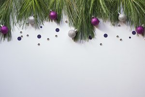 Purple and Silver Holiday Decor