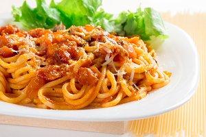 Italian cooked spaghetti