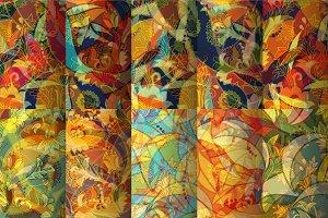 10 Autumn Seamless Patterns