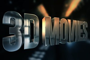 3D Movies Text Render