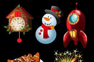 Christmas symbols and entertainment
