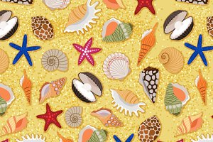 Sand and shells pattern