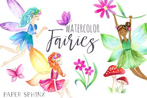 Watercolor Fairy Pack