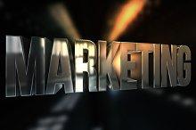 3D Marketing Text Render