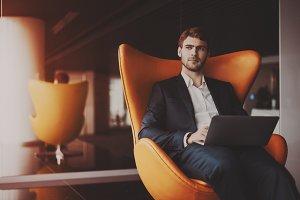serious successful man entrepreneur