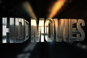 HD Movies 3D Text
