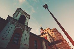 ordinary orthodox church and lantern