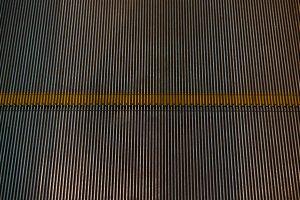 Metal escalator step texture
